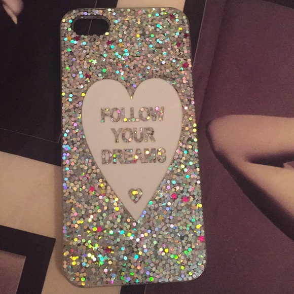 """reputable site ae2a9 57a1f Glitter """"follow your dreams """" iPhone 5 cases"""